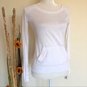 Lululemon   chai time pullover II sweater white